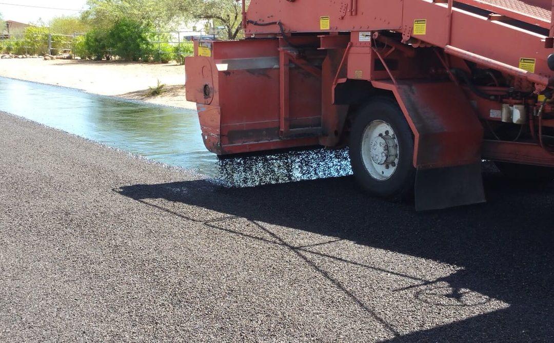 Machine Doing Road Work in Phoenix, AZ