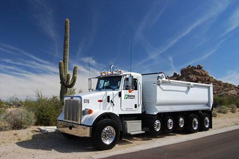Cactus Asphalt dump truck services in phoenix