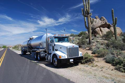 cactus asphalt tanker truck transportation in phoenix
